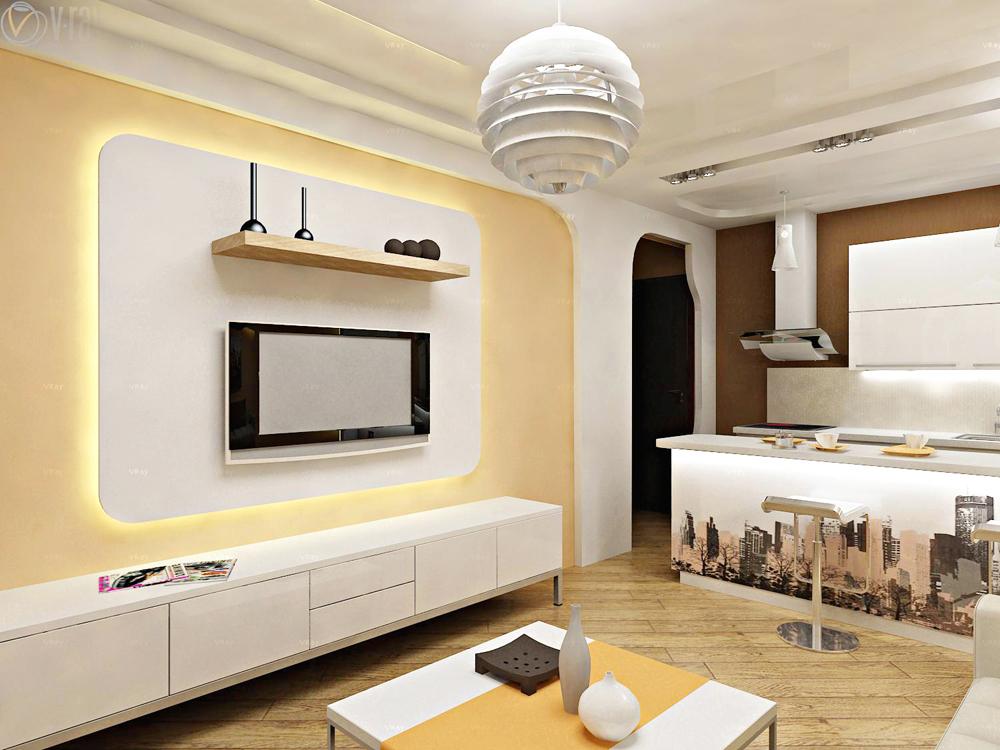 Дизайн комнаты в 1-комнатной квартире